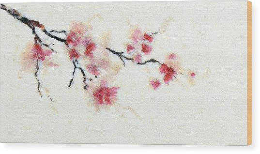Sakura Branch Wood Print