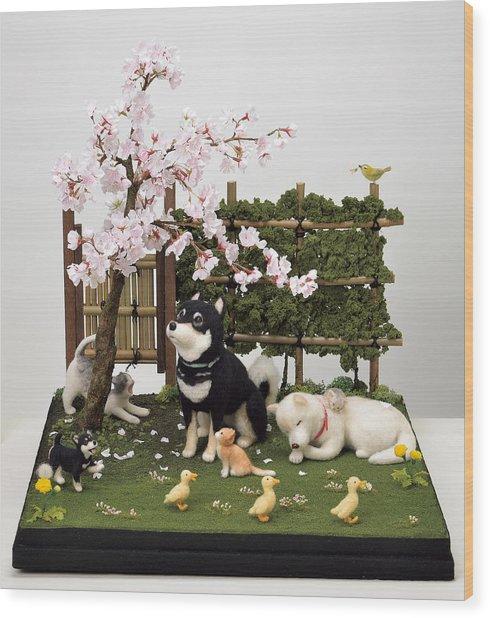 Sakura Wood Print by Yukiko Sato