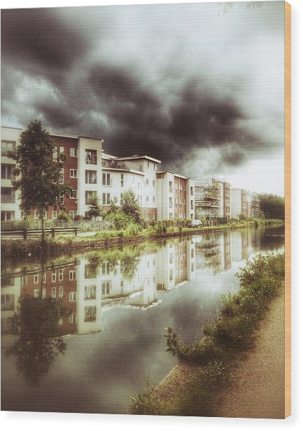 Sale Canal Wood Print by YoursByShores Isabella Shores