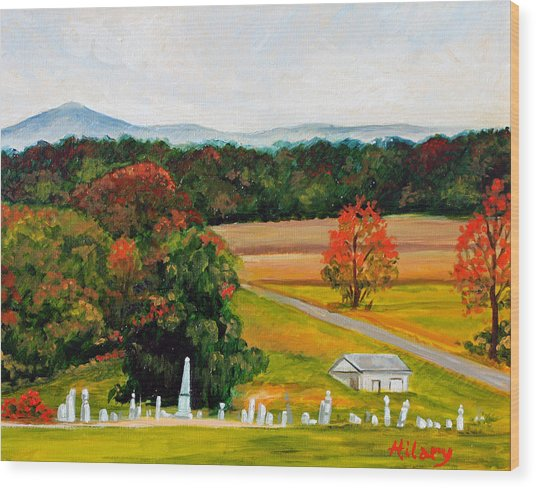 Salem Cemetery In October Wood Print by Hilary England