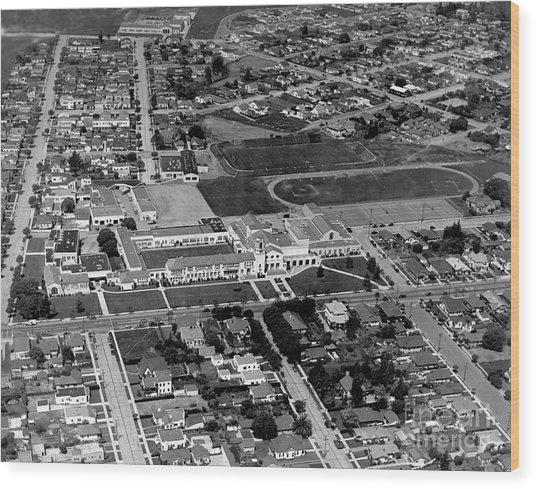 Salinas High School 726 S. Main Street, Salinas Circa 1950 Wood Print