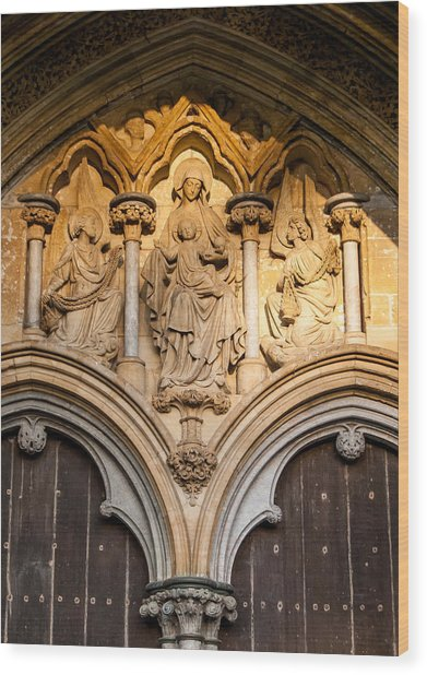 Salisbury Cathedral Doors Wood Print