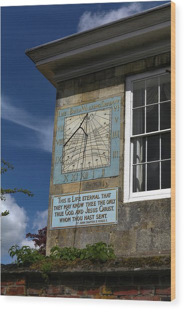 Salisbury Sundial Wood Print
