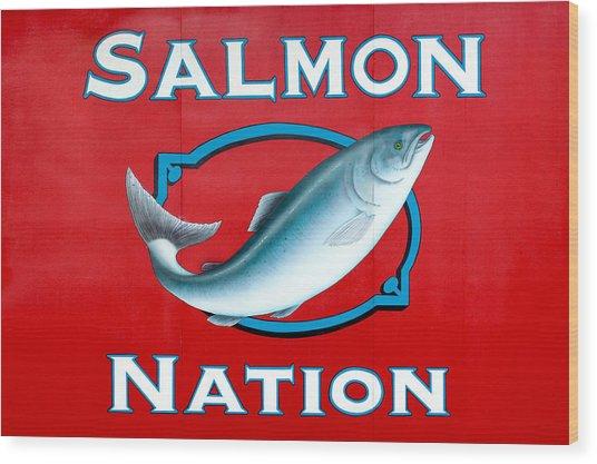 Salmon Nation Wood Print