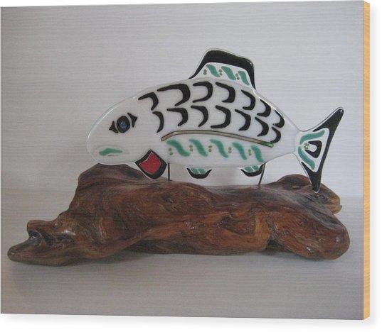 Salmon No1 Wood Print by Mark Lubich