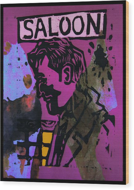 Saloon 1 Wood Print by Adam Kissel