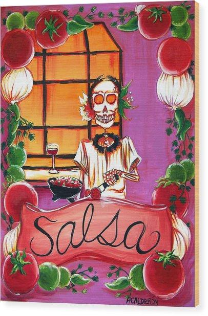 Salsa Wood Print