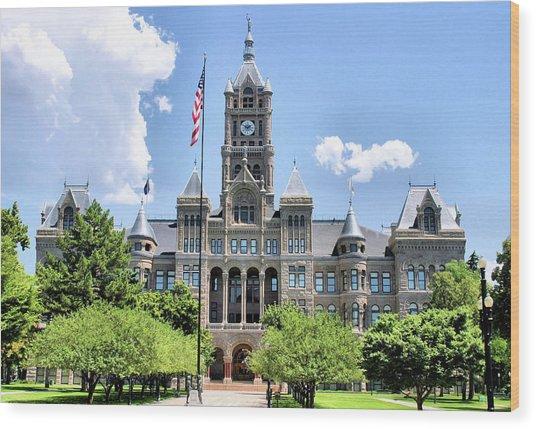 Salt Lake City County Building Wood Print