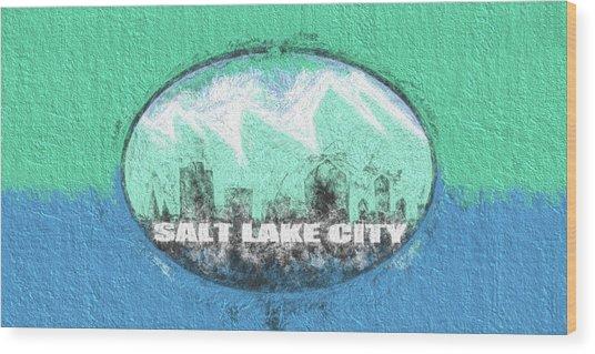 Salt Lake City Flag Wood Print by JC Findley