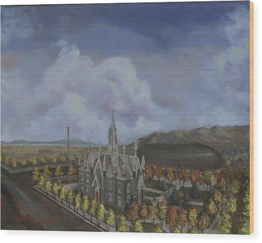 Salt Lake City Temple Square Nineteen Twelve Left Panel Wood Print