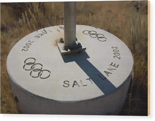 Salt Lake Olympics 2002 Wood Print