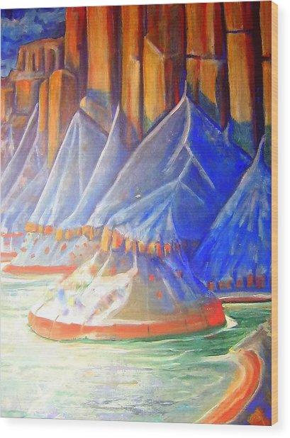 Salt Lake Wood Print