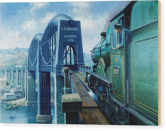 Saltash Bridge. Wood Print