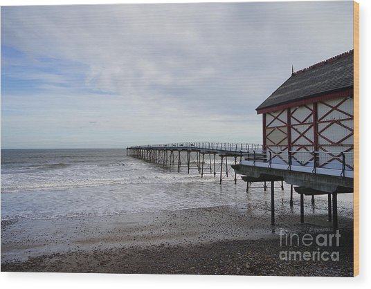 Saltburn On Sea Wood Print