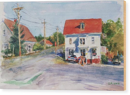 Salty Market, North Truro Wood Print