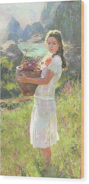 Salvia Wood Print