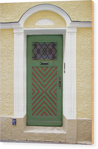Salzburg Door Wood Print by Derek Selander