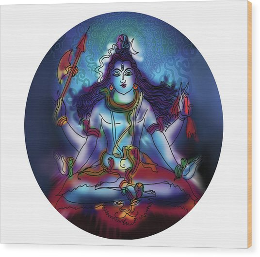 Samadhi Shiva Wood Print