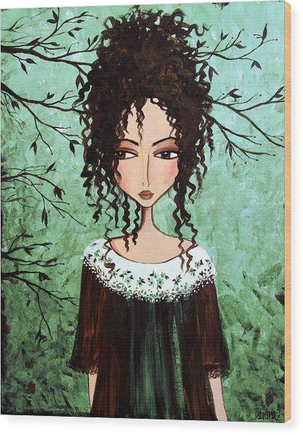 Samantha's Chocolate Tree Wood Print