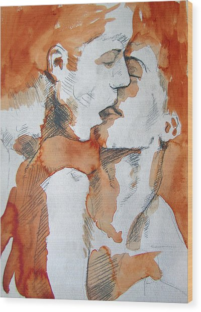 Wood Print featuring the painting Same Love by Rene Capone