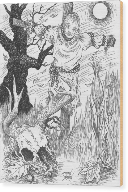 Samhain Wood Print