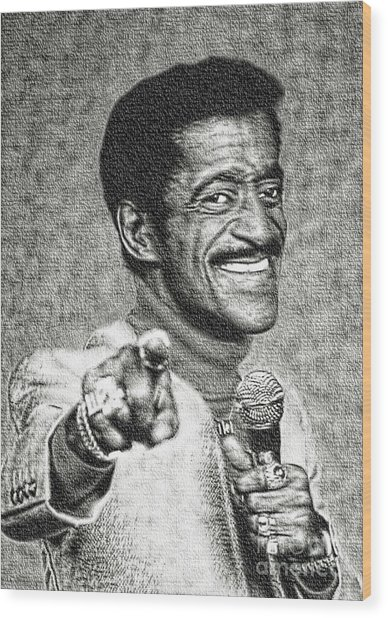 Sammy Davis Jr - Entertainer Wood Print