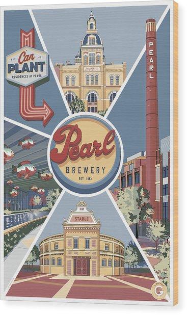 San Antonio's Pearl Wood Print