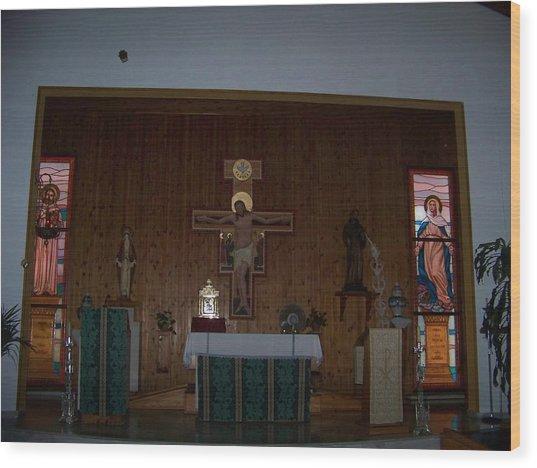 San Bernardo Abad,la Virgen Milagrosa Wood Print