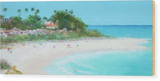 San Clemente Beach Panorama Wood Print