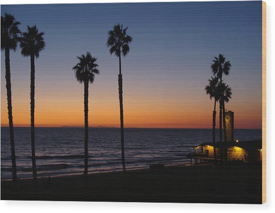 San Clemente Sunset Wood Print by Ty Nichols