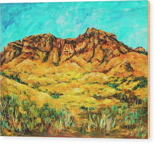 San Cristo Mountains Wood Print