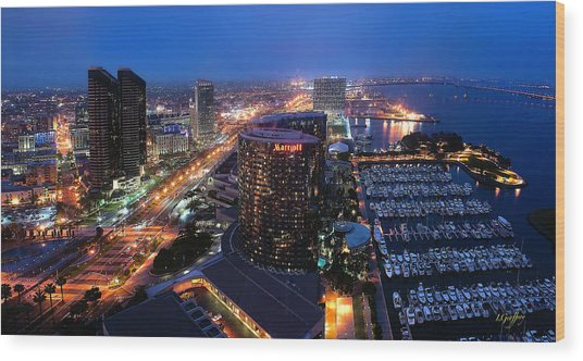 San Diego Bay Wood Print