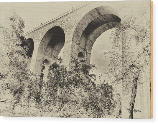 San Diego Historical Cabrillo Bridge Wood Print by Russ Harris