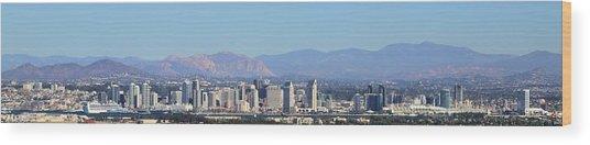 San Diego Pano Wood Print