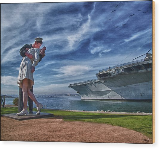 San Diego Sailor Wood Print