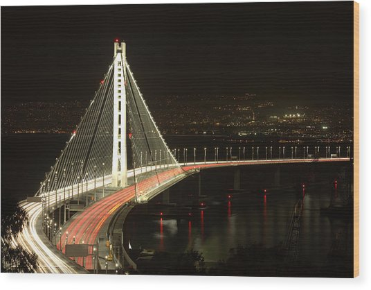 San Francisco Bay Bridge New East Span Wood Print