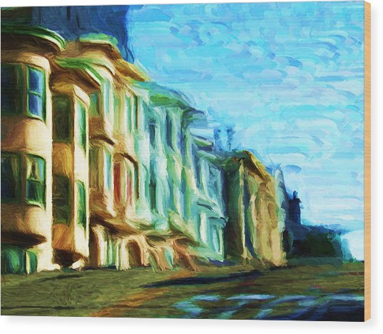 Frisco Street Homes Wood Print