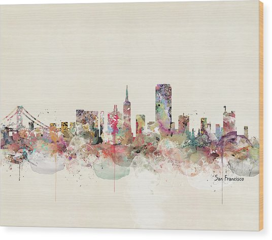 San Francisco California Wood Print