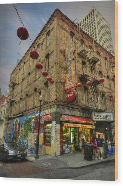 San Francisco - Chinatown 006 Wood Print by Lance Vaughn
