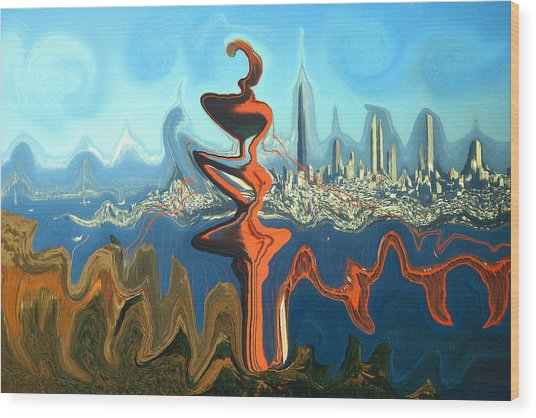 San Francisco Earthquake - Modern Artwork Wood Print