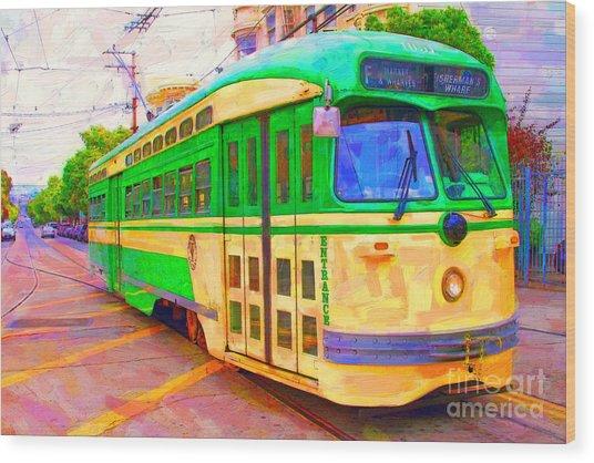 San Francisco F-line Trolley Wood Print