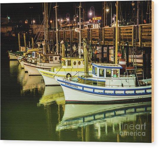 San Francisco Fisherman's Wharf Wood Print