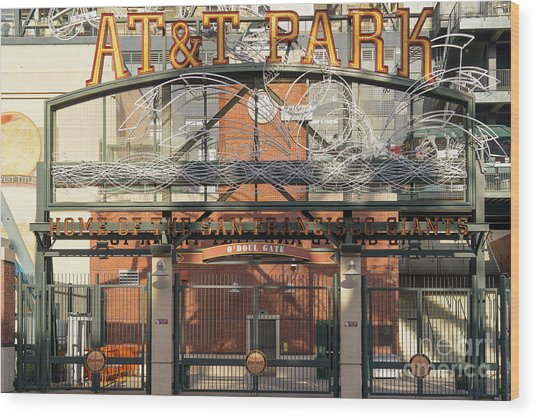 San Francisco Giants Att Park Juan Marachal O'doul Gate Entrance Dsc5778 Wood Print