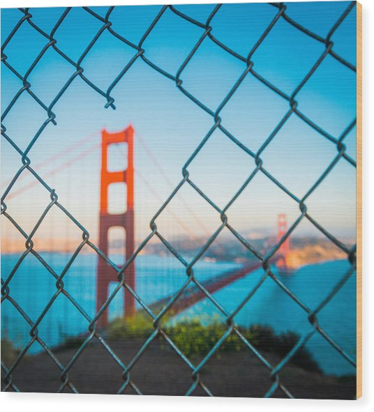 San Francisco Golden Gate Bridge Wood Print