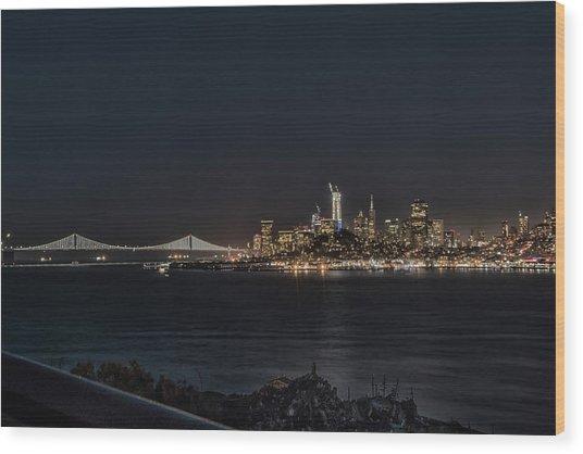 San Francisco Night Wood Print