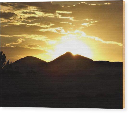 San Francisco Peaks At Sunset Wood Print