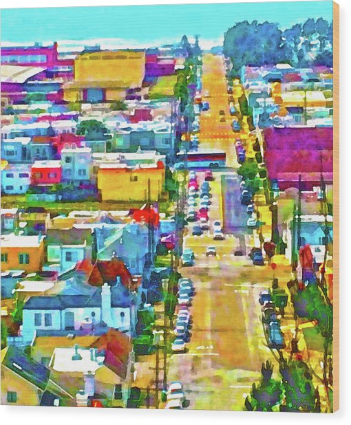 San Francisco Quintara View Wood Print