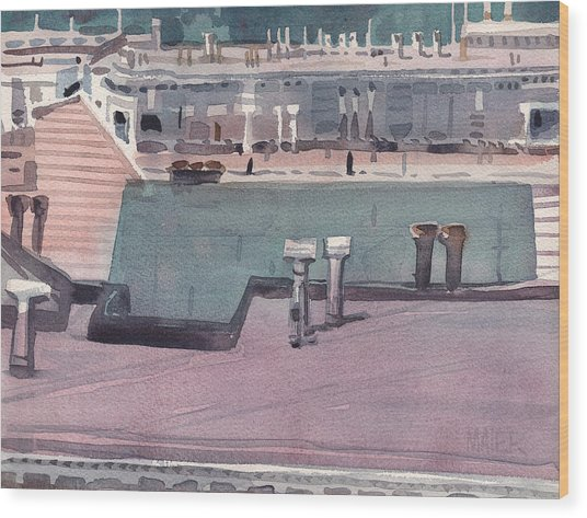 San Francisco Rooftops Wood Print by Donald Maier