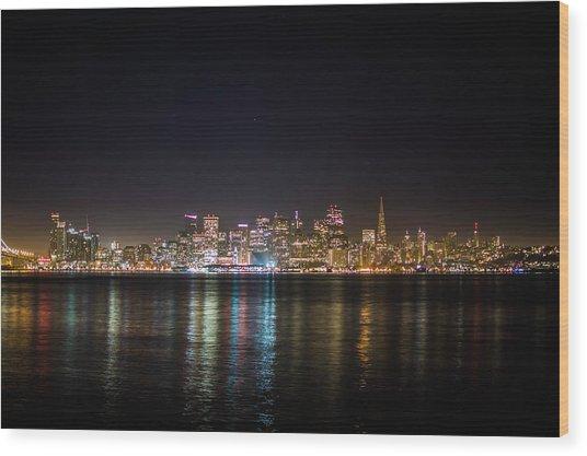 San Francisco Shot Wood Print
