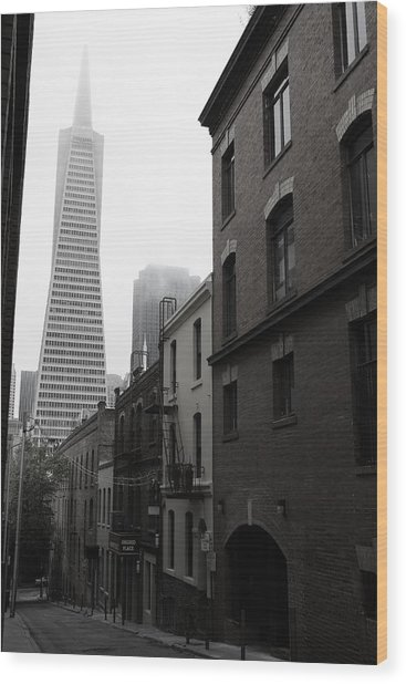San Francisco Street Wood Print
